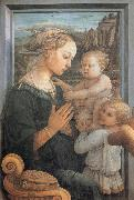 Fra Filippo Lippi Madonna and Child with Two Angels, oil painting picture wholesale